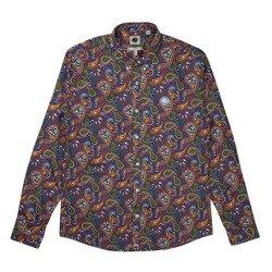 Pretty Green Mens Slim Fit Paisley Print Shirt