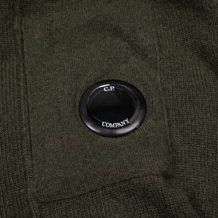CP COMPANY LAMBSWOOL CREWNECK SWEATER GREEN