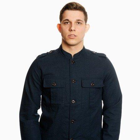Pretty Green Mens Button Up Linen Jacket