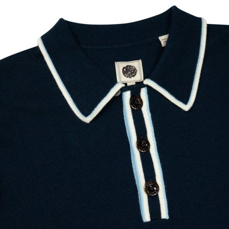 Pretty Green Mens Stripe Detail Knitted Shirt
