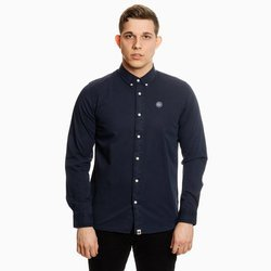 Pretty Green Mens Classic Fit Garment Dye Shirt