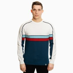 Pretty Green Mens Contrast Panel Knitted Jumper