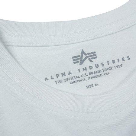 Alpha Industries Basic T Small logo White