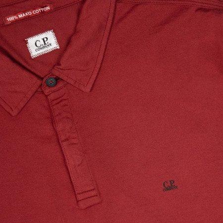 CP COMPANY LONGSLEEVE POLO SHIRT RED