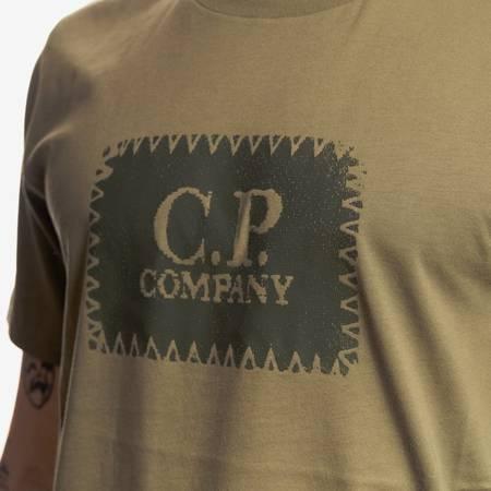 CP COMPANY T-SHIRT SHORT SLEEVE JERSEY 30/1 MILITARY GREEN