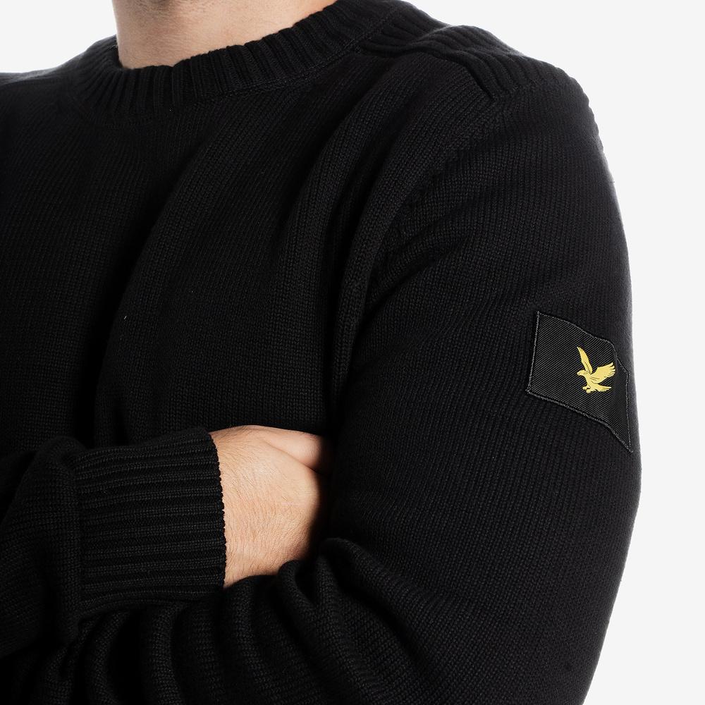 LYLE&SCOTT CASUALS SHOULDER DETAIL CREW NECK KNIT JUMPER