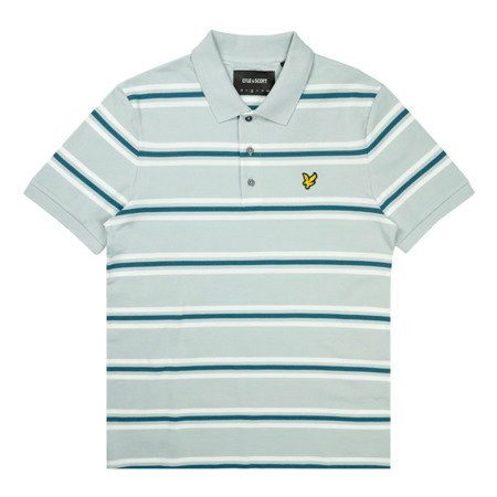 LYLE&SCOTT MULTISTRIPE POLO SHIRT LIGHT SILVER