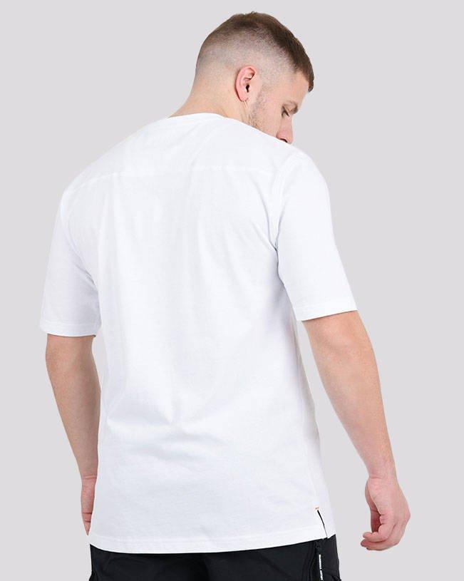 MARSHALL ARTIST LIQUID RIPSTOP LOGO T-SHIRT 420 WHITE