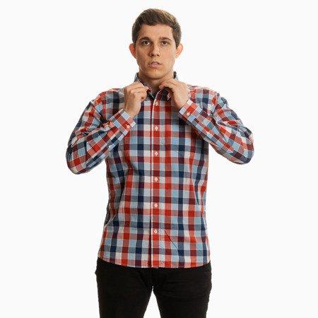 Pretty Green Mens Classic Fit Check Long Sleeve Shirt