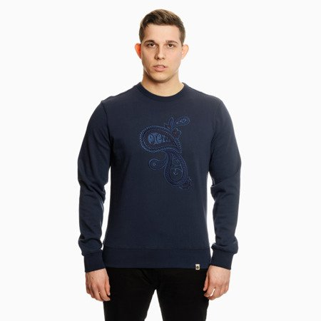 Pretty Green Mens Paisley Embriodery Crew