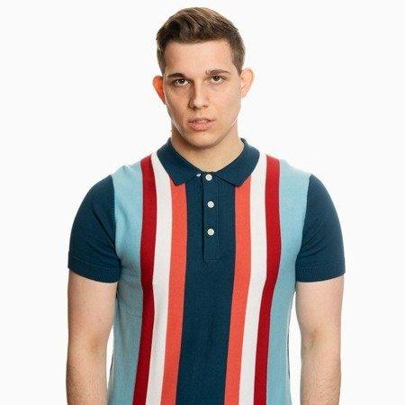 Pretty Green Mens Stripe Knitted Polo