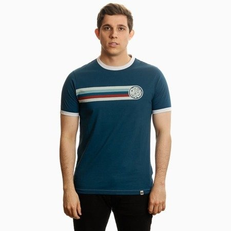 Pretty Green Mens Stripe Printed T-Shirt