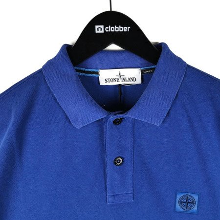 STONE ISLAND PIGMENT DYE TREATMENT POLO BLUE